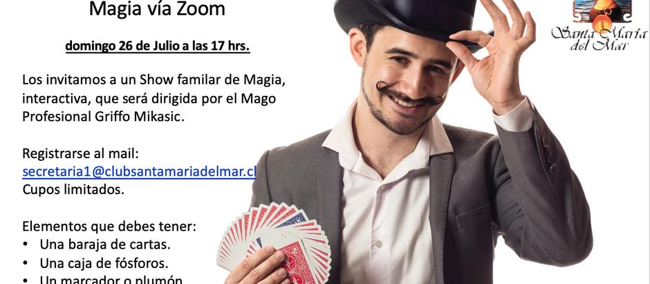 Show de Magia - Domingo 26 de Julio a las 17:00 horas INSCRIBETE!