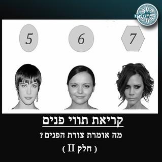 קריאת תווי פנים - צורות הפנים -חלק2