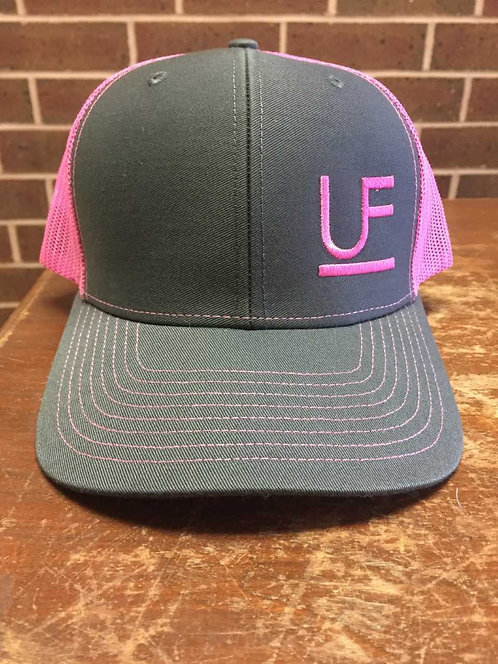 Richardson Cap- Pink & Gray