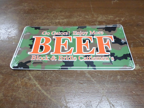 Camouflage Beef Tag