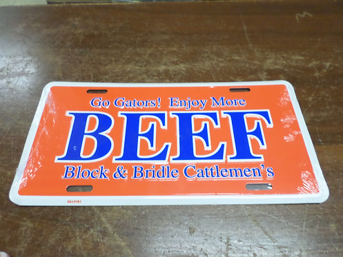 Orange and Blue Beef Tag