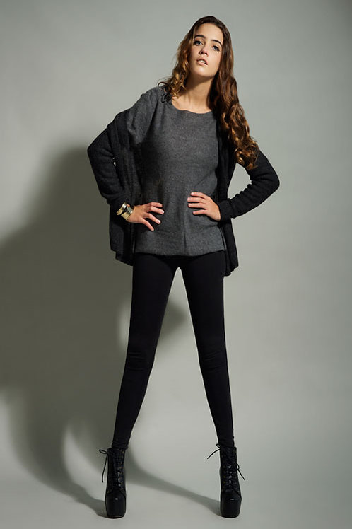Dark Alpaca Cardigan & Sweater