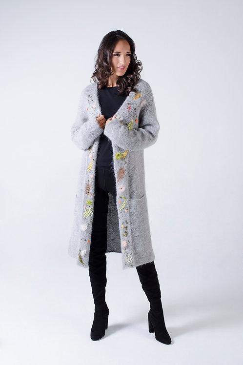 Gray Alpaca cardigan