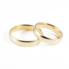 Alianças de Casamento Amendoada, ligeiramente arredondada para ultra-conforto, com 4mm de largura. Produzida em Ouro Leve, 9Kt, Ouro Elite, 14Kt, e Ouro Premium, 19Kt, em qualquer cor, acabamento,com e sem pedras.
