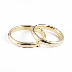Alianças de Casamento Amendoada Alta, muito arredondada para ultra-conforto, com 3mm de largura. Produzida em Ouro Leve, 9Kt, Ouro Elite, 14Kt, e Ouro Premium, 19Kt, em qualquer cor, acabamento,com e sem pedras.
