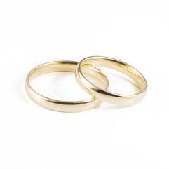Alianças de Casamento Amendoada, ligeiramente arredondada para ultra-conforto, com 3mm de largura. Produzida em Ouro Leve, 9Kt, Ouro Elite, 14Kt, e Ouro Premium, 19Kt, em qualquer cor, acabamento,com e sem pedras.