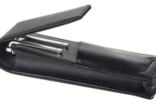 Estojo em pele (2 canetas)
