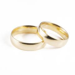 Alianças de Casamento Amendoada, ligeiramente arredondada para ultra-conforto, com 5mm de largura. Produzida em Ouro Leve, 9Kt, Ouro Elite, 14Kt, e Ouro Premium, 19Kt, em qualquer cor, acabamento,com e sem pedras.