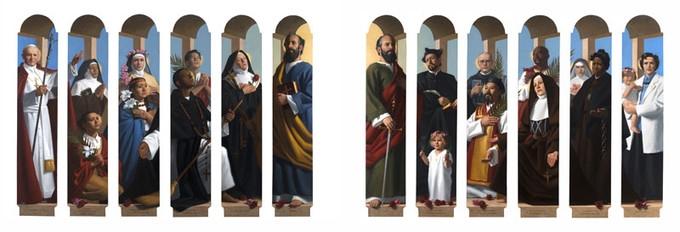 Communion of Saints (left and right panels),