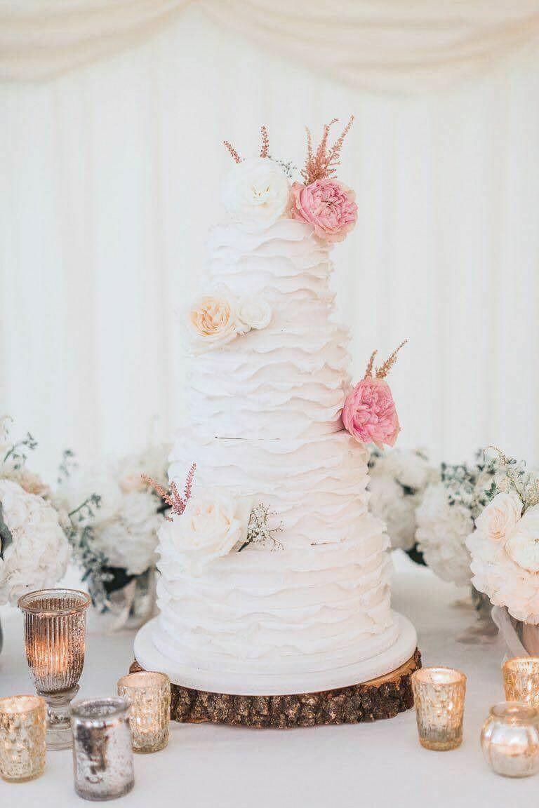 Ruffle Wedding cake - Dinkys Cakes