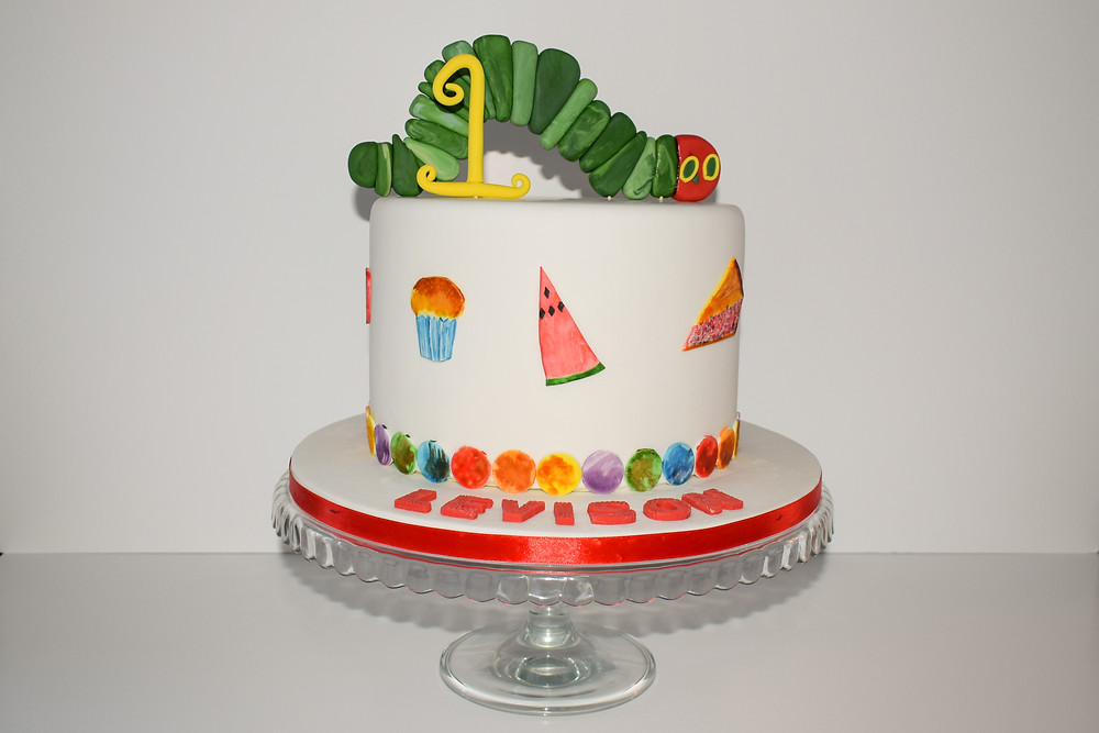 The Hungry Caterpillar cake - Dinkys Cakes
