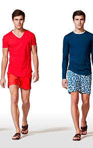 Lookbook, Man, Mens Style, Shorts, Swim Shorts, Swim Trunks, Bathingsuit, White Pants, Brunette, Boy, Red, Sweater, Scarf, Sunglasses, V Neck, T-Shirt, Belt, Sandals, Leather, Shoes, REGHANBLAKE, Designer, Model, Male Model