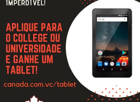 Aplique para o College ou Universidade e ganhe um tablet!