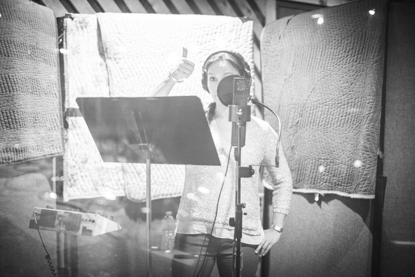 recording at the studio, NYC