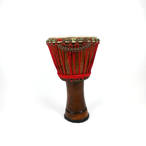 "12.5"" African Djembe Drum - Handmade in Burkina Faso - Iroko Wood"