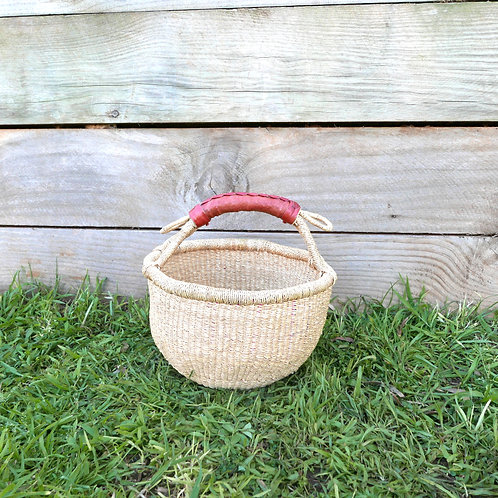 Small Round Natural Basket