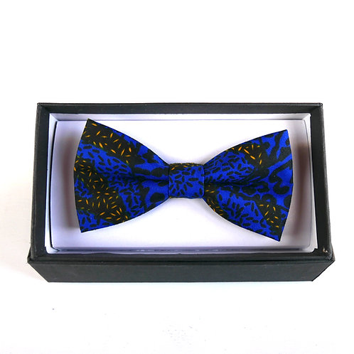 Large Blue Bow Tie