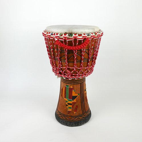 "12.75"" African Djembe Drum - Handmade in Ghana - Twenaboa Wood"