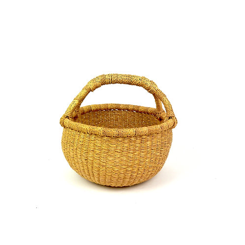 Vegan Small Round Basket STOCK PHOTO