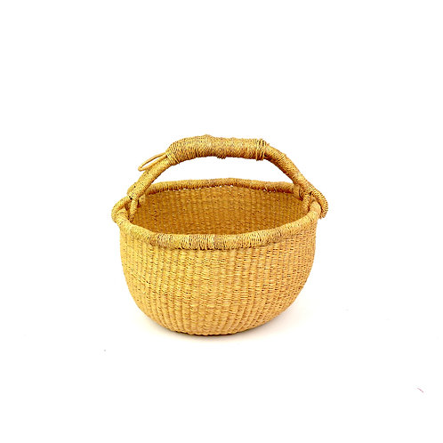 Vegan Medium Round Basket STOCK PHOTO