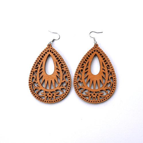 Wooden earrings