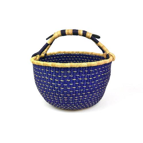 Vegan Large Round Basket