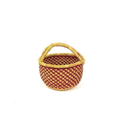 Vegan Small Round Basket