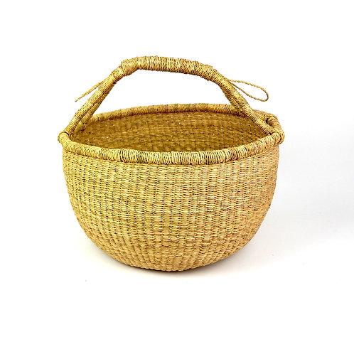Vegan Large Round Basket STOCK PHOTO