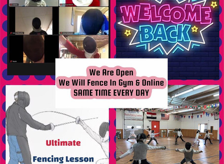 We are open IN-PERSON & ONLINE at the same time classes