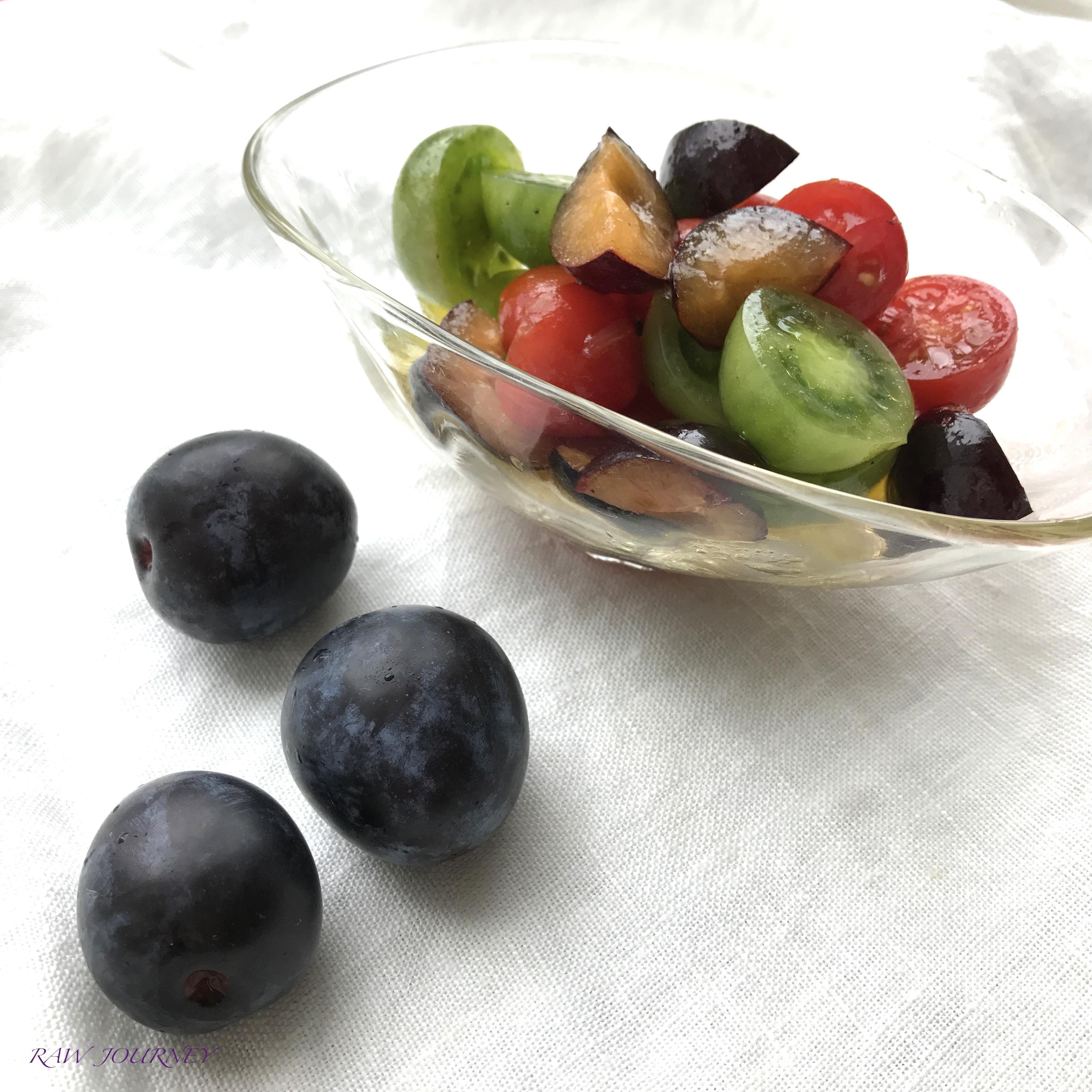 rawfood/プルーン&トマトサラダパクチーサラダ