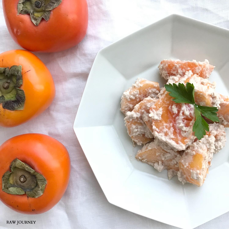 rawfood /柿の白和え