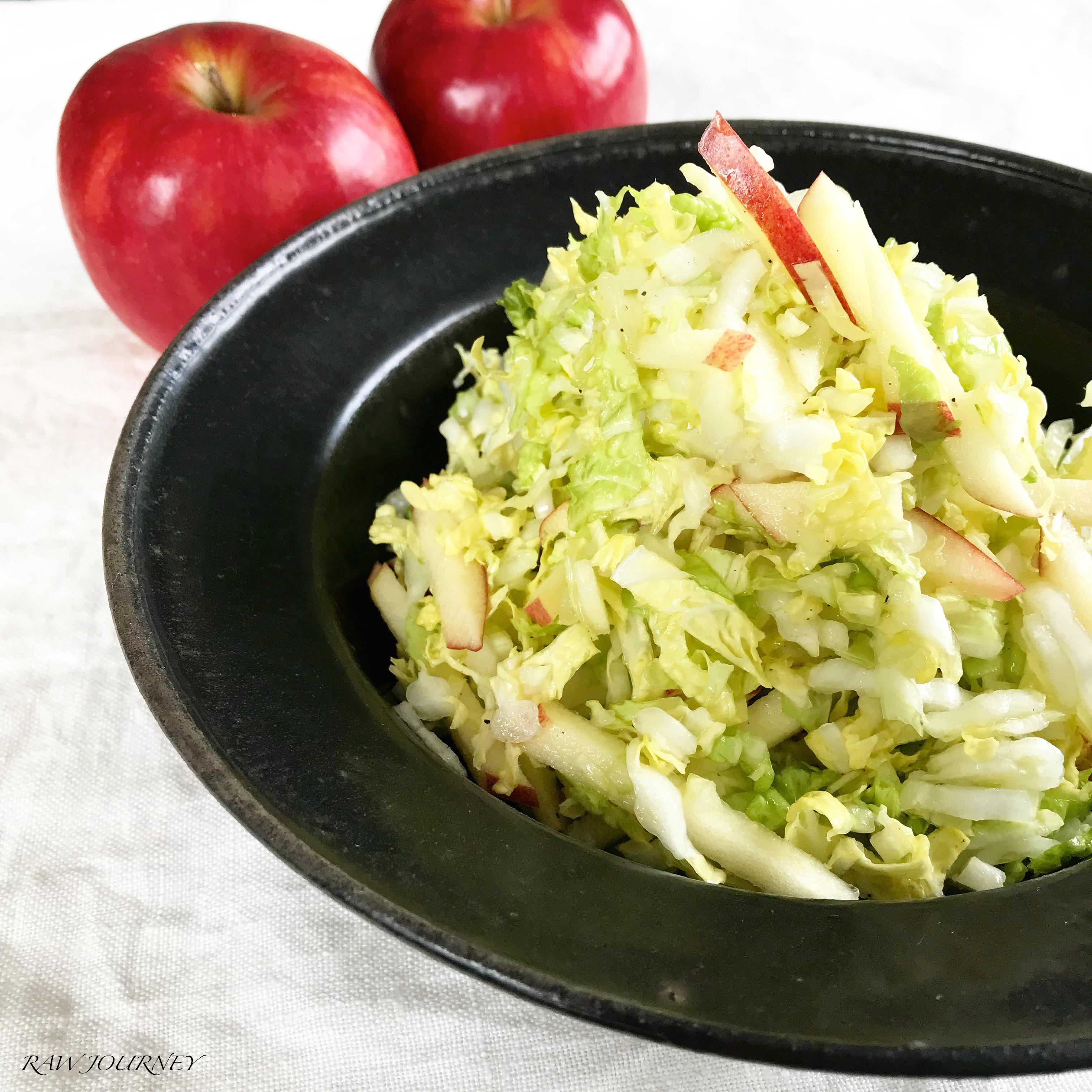 rawfood/白菜と林檎のサラダ