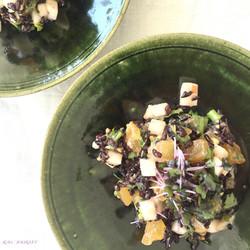 rawfood/柿と黒米のサラダ
