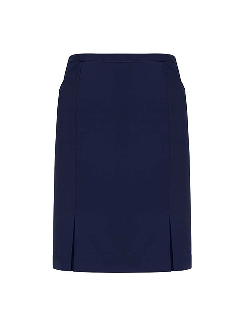 Womens Front Pleat Detail Straight Skirt