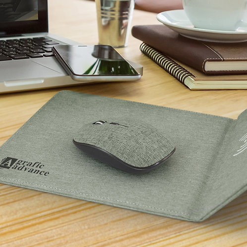 116768 Greystone Wireless Charging Mouse Mat