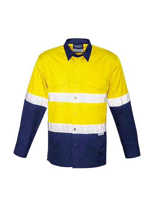 Syzmik Mens Rugged Cooling Taped Hi Vis Spliced Shirt