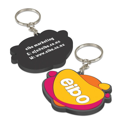 107109 PVC Key Ring Small - One Side Moulded