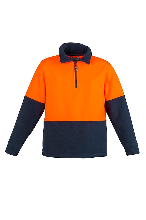 Syzmik Unisex Hi Vis Half Zip Fleece Jumper