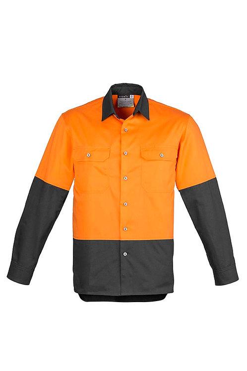 Syzmik Mens Hi Vis Spliced Industrial Shirt