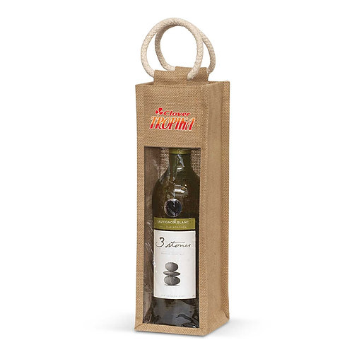 108039 Serena Jute Wine Carrier