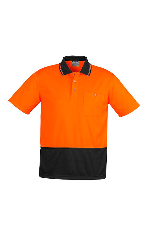 Syzmik Unisex Hi Vis Basic Spliced Polo - Short Sleeve