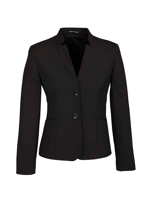Womens Short Jacket with Reverse Lapel