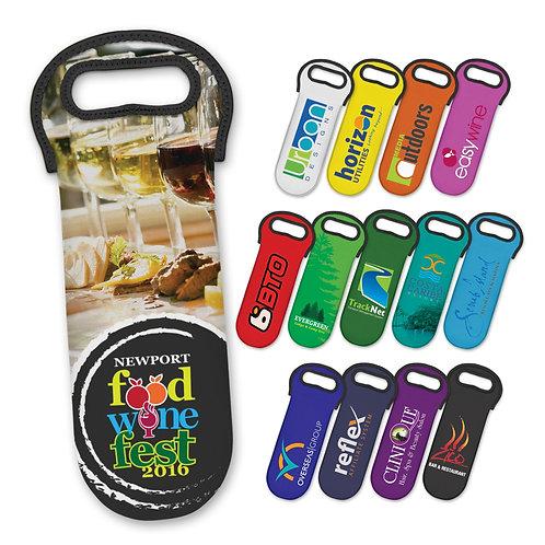 110498 Neoprene Wine Cooler Bag - Full Colour