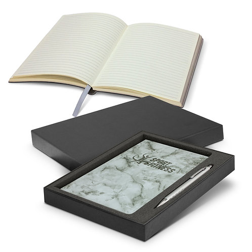 116692 Marble Notebook and Pen Gift Set