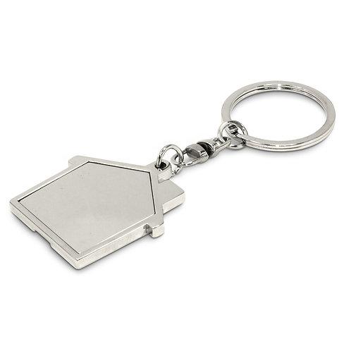 100322 House Metal Key Ring