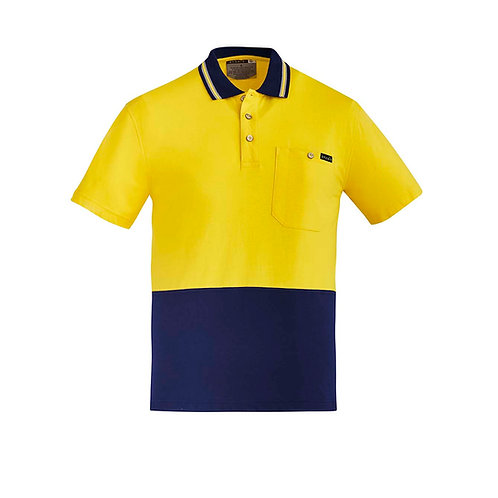 Syzmik Mens Hi Vis Cotton S/S Polo