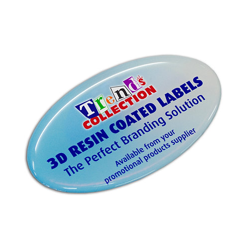 100136 Resin Coated Labels 74 x 43mm Oval