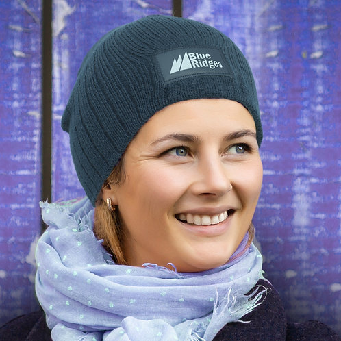 115656 Nebraska Cable Knit Beanie with Patch