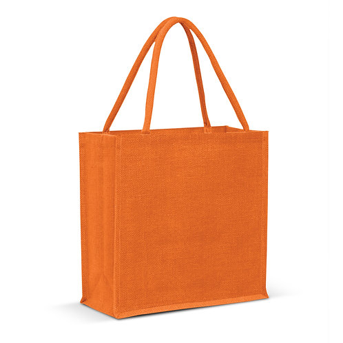 115324 Monza Jute Tote Bag - Colour Match
