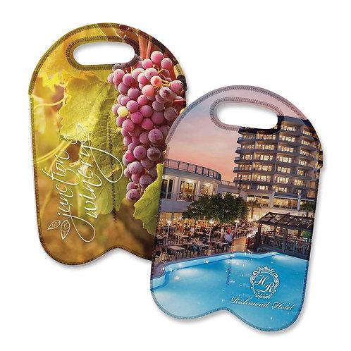 110499 Neoprene Double Wine Cooler Bag - Full Colour